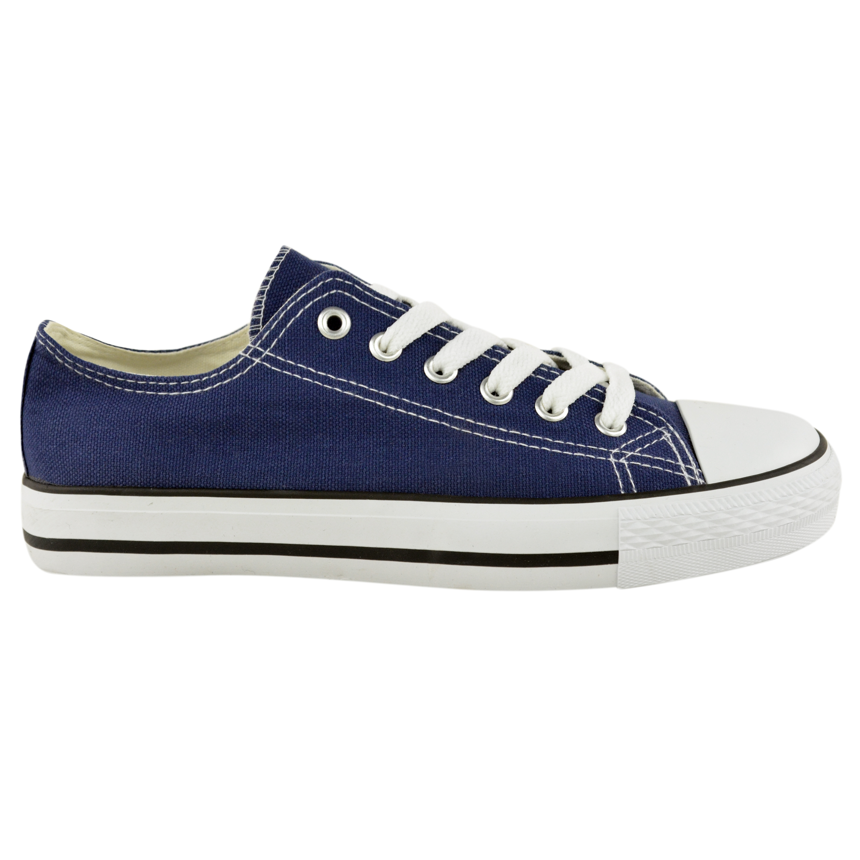 shoes womens canvas lace up plimsoll flat
