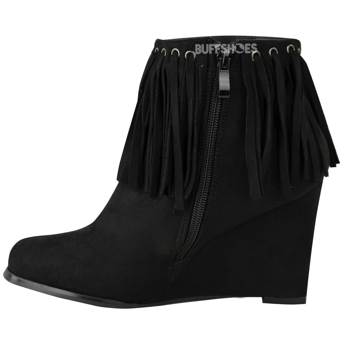 158a6501d2ac Low Wedge Ankle Boots Ladies