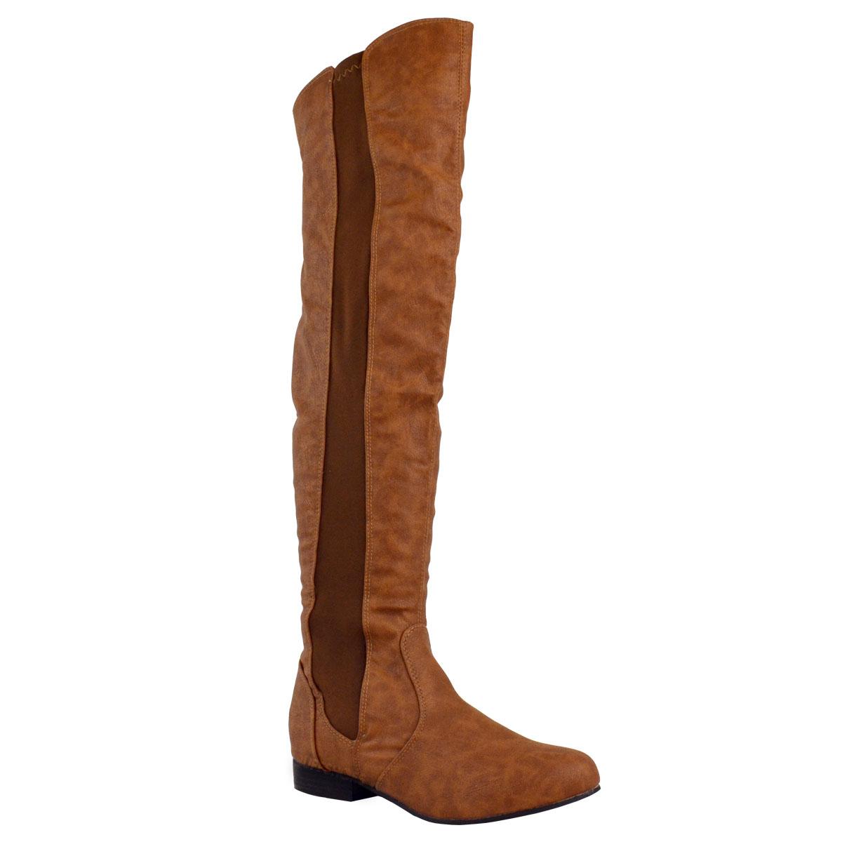 womens wide leg calf stretch knee thigh high