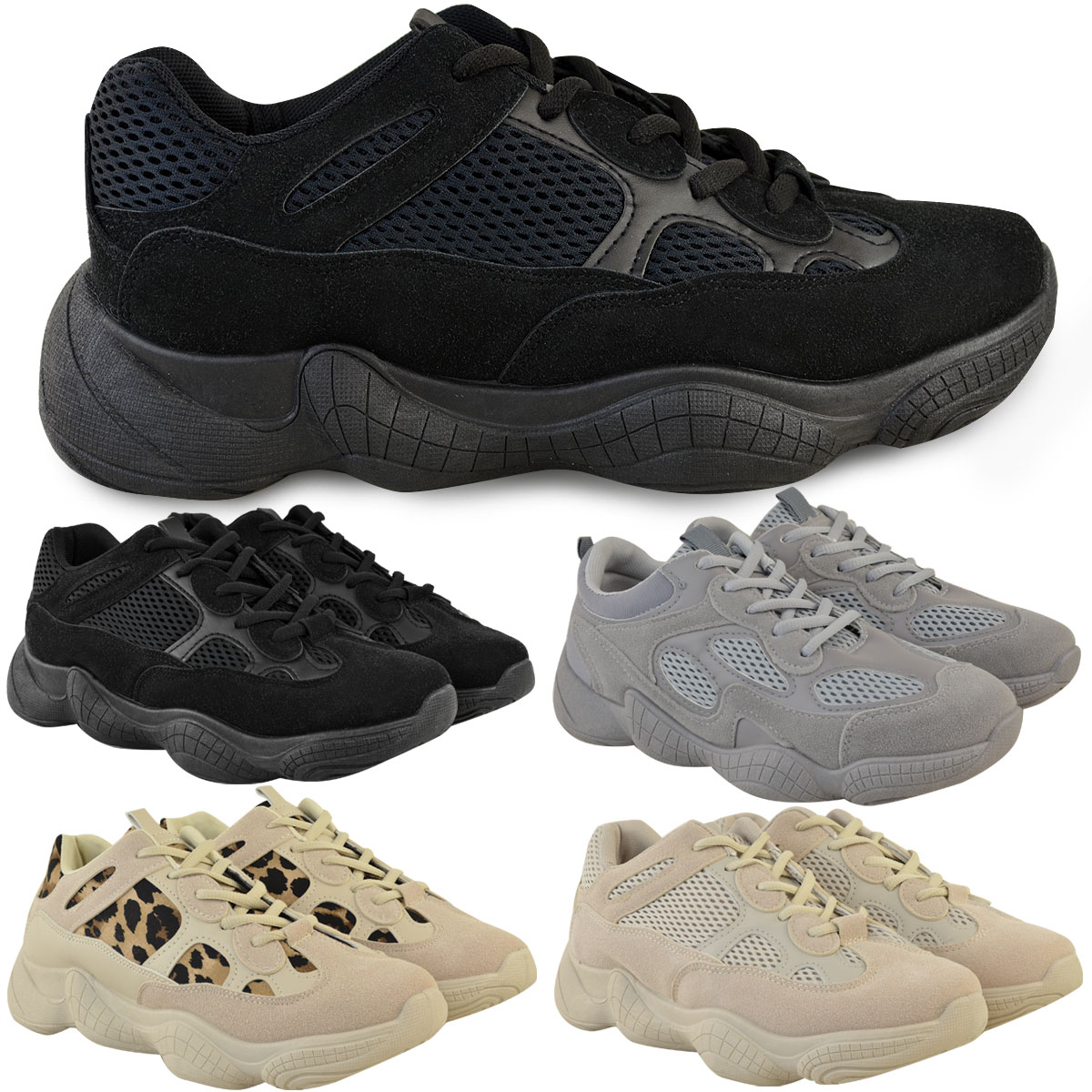 Womens Ladies Flat Trainers Sports Sneakers Fitness Pumps Lace Up Runners Shoes
